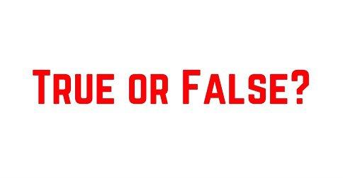 myth busters true or false